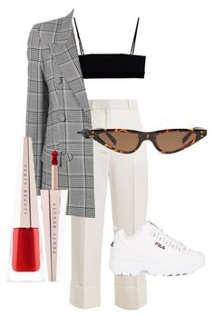 """""""some what simplistic"""" by erzara ❤ liked on Polyvore featuring Alexander Wang, Racil, Fila and Puma"""
