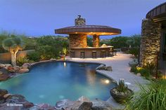 Outdoor kitchen and pool by cholla75, via Flickr