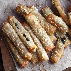 Spinach & feta filo fingers