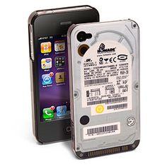 Un case para iPhone muy original, en forma de Disco Duro.
