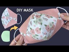 Sewing Tutorials, Easy Sewing Patterns, Sewing Projects For Beginners, Sewing Hacks, Sewing Crafts, Easy Face Masks, Homemade Face Masks, Diy Face Mask, Mouth Mask Design