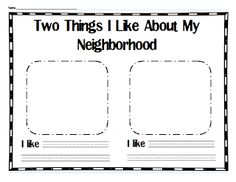 read Franklin's Neighborhood - what do you like about your neighborhood