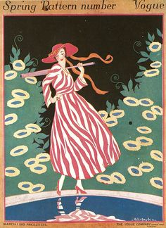 March 1915 - You'll Love These Illustrated Vintage 'Vogue' Covers - Photos Vogue Vintage, Capas Vintage Da Vogue, Vintage Vogue Covers, Vogue Magazine Covers, Art Deco Pattern, 1920s Art Deco, Vintage Magazines, Fashion Magazines, Magazine Art