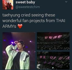 Taehyung crying with the BTS Thai fans