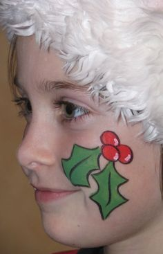 cheek face painting for kids   Christmas Face Painting