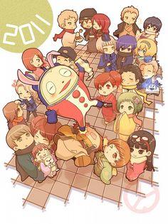 Persona 3 and 4 Chie Satonaka, Mitsuru Persona Q, Yu Narukami, Otaku, Shin Megami Tensei Persona, Video Game Art, Video Games, Chibi Characters, Got Game, Rolodex