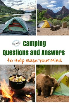 Camping questions and answers to ease your mind. #camping #campingtips #optoutdoors
