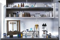 The Laboratory, clean, science, glass, clinical Chemistry Experiments, Science, Chemistry Lab Equipment, Cosmetics Laboratory, Erno Laszlo, Kids Office, Living Proof, Decoration, New Homes