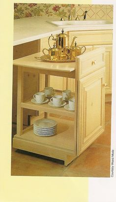 Think it is a cupboard. No it is a moveable rolling server