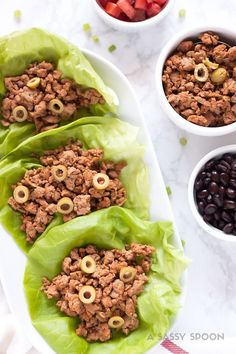 Flavorful, easy-to-make lettuce wraps made with Cuban-style seasoned ground turkey. Perfect for a weeknight meal and lunch the next day!