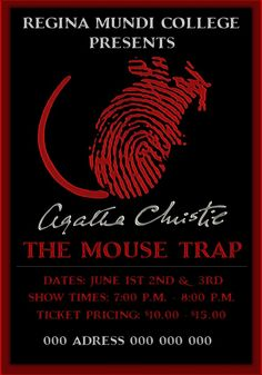 The Mousetrap - Theatre Poster by Michael-Julien on deviantART