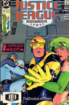 Justice League America Comic # 37 Publisher: DC Comics Date: April 1990 Condition: VF+/NM  Description: Intruder Alert! Furballs!