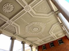 The ceiling of Adam's pillared portico, Osterley Park Belton House, Harewood House, Dumfries House, Compton Verney, Houghton Hall, Adams Homes, Portland Stone, Chippendale Chairs, Bury St Edmunds