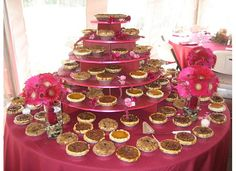 Instead of a wedding cake, Michele's Pies in Norwalk, Conn., created this arrangement of assorted pies. Plan My Wedding, Our Wedding, Wedding Ideas, Fall Wedding, Wedding Stuff, Dream Wedding, Wedding Inspiration, Pie Wedding Cake, Cheesecake Cupcakes