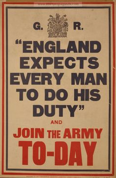 Vintage High Quality British World War I Propaganda Recruitment Posters