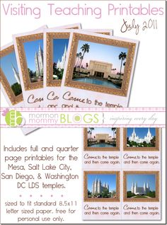 Free visiting teaching printables