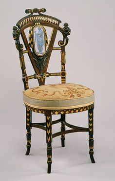 Side chair, ca. 1870  Attributed to Pottier and Stymus and Company (New York City, active 1859–1910)  Walnut, mahogany, rosewood, cedar