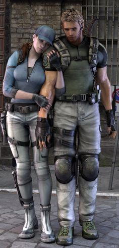 JILL valentine and chris redfield Jill Valentine, Geeks, Resident Evil Video Game, Valentine Resident Evil, Videogames, Leon S Kennedy, Evil Games, Umbrella Corporation, Best Zombie