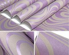 Textilná reliéfna tapeta na stenu v purpurovej farbe Stencil, Hip Bedroom, Stenciled Table, Stenciling