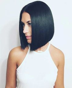 Short Straight Inverted Bob Haircut