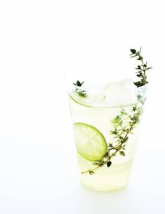 Winter Thyme & Keylime cocktail via Sweet Paul Mag Winter 2012