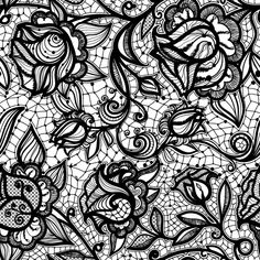 Abstract seamless lace pattern with flowers and leaves. Infinitely wallpaper, decoration for your design, lingerie and jewelry. Your invitation cards, wallpaper, and more. Lace Background, Creative Background, Background Patterns, Lace Drawing, Pattern Drawing, Lace Patterns, Flower Patterns, Bracelet Bras, Paper Lace
