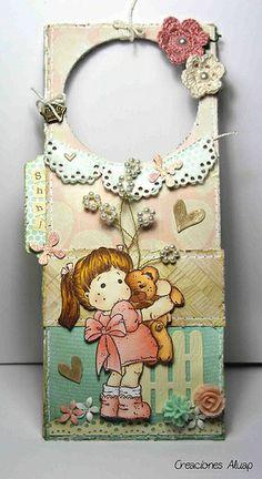 Cuelgapuertas Magnolia Teddybear Love by Creaciones Aluap, via Flickr