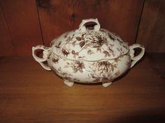 Cream and Brown Toile Soup Tureen by Coastline by TMRestoArts, $19.99