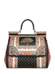 Dolce & Gabbana Medium Sicily Print Dauphine Leather Bag Source: http://www.closetonthego.com/e-shop-product/41693/dolce-gabbana-medium-sicily-print-dauphine-leather-bag/ © Closet On The Go