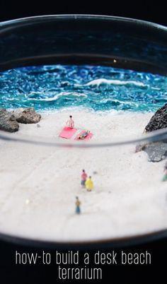 How-To Build A Desk Beach Terrarium #girlzactive #DIYbeach