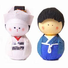 poupées papier japonaises okiagari doll hanayo