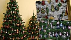RETRO vánoční ozdoby: Tyhle měl doma snad každý! GALERIE - tn.cz Christmas Tree, Retro, Holiday Decor, Home Decor, Teal Christmas Tree, Decoration Home, Room Decor, Xmas Trees, Christmas Trees