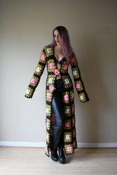 Crochet Duster, Crochet Projects, 60S Crochet, Hippie Crochet, Duster ...