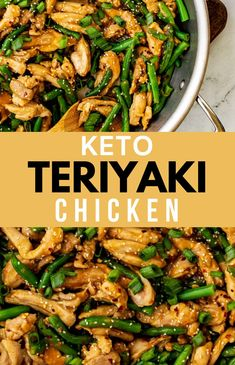 Skip the take-out and make this delicious Keto Teriyaki Chicken at home! In less than 30 minutes of hands-on time, you have a wholesome meal that tastes just as good as carry-out and fits in perfectly with your low carb diet. You are going to love the delicious marinade for this easy stir fry. This easy recipe is one I turn to again and again! Low Carb Chicken Recipes, Keto Chicken, Low Carb Recipes, Lunch Recipes, Real Food Recipes, Dinner Recipes, Yummy Food, Chicken Teryaki Recipe, Teriyaki Chicken