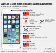 新アイフォーンでアジアの部品メーカー潤う - WSJ
