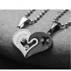 Cœur D'amour Colliers pour Les Couples
