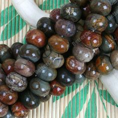 14x10mm Multicolor Picasso Jasper Abacus Loose Beads