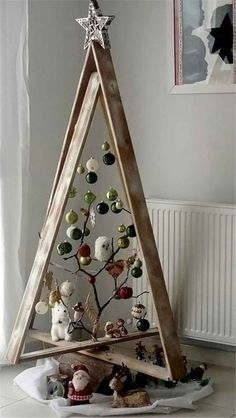 New Christmas Home Decor Inspiration Ideas In every Chris. , New Christmas Home Decor Inspiration Ideas In every Christmas, each family in every house requires to put a bit effort to make . Christmas Tree Design, Wooden Christmas Trees, Noel Christmas, Rustic Christmas, Christmas Projects, Christmas 2019, Christmas Tree Ornaments, Ladder Christmas Tree, Christmas Ideas