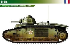 Battle Tank B1-bis (APX-4 Turret) 1944