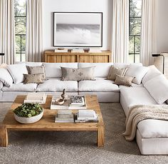 Restoration Hardware December 2018 Sale, Best Modern Farmhouse Furniture Stop Everything: Restoration Hardware Is Having a Major Sale Apartment Living, Modern Farmhouse Furniture, Home Living Room, Farm House Living Room, Restoration Hardware Living Room, Living Room Sectional, Couches Living Room, Living Decor, Living Room Designs