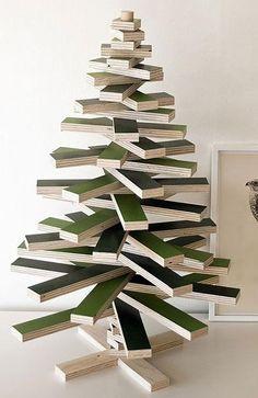 wood block christmas tree - Google Search