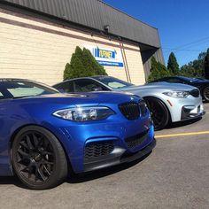 Two and Three. #BMW #f22 f80 #2series #3series #silverstone #estoril #apex #hre #hrsprings #turnermotorsport by turnermotorsport