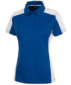 Charles River Apparel Style 2315 Women's Micropique Wicking Polo - SweatshirtStation.com #CharlesRiverApparel #royalwhitepolo