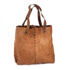 The Fair Trade Blog - Buffalo leather shopping bag from Nepal