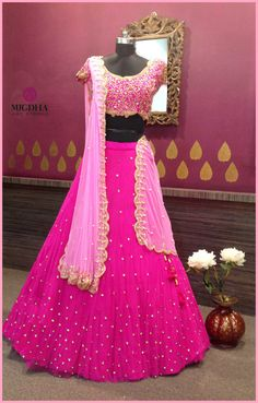 Here comes this gorgeous lehenga in your favorite color garb this! They can customize the color and size as per your requirement. Product code-LHG 310 To Order : WhatsApp: 8142029190 / 9010906544 . Desi Wedding Dresses, Indian Wedding Outfits, Indian Outfits, Lehenga Saree Design, Lehenga Designs, Sari, Lehenga Choli, Dulhan Dress, Lehnga Dress