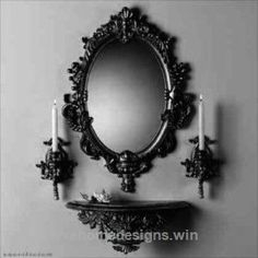 Check it out Gothic mirror and candles The post Gothic mirror and candles… appeared first on Erre Designs . Check it out Gothic mirror and candles The post Gothic mirror and candles… appeared first on Erre Designs . Gothic Room, Gothic House, Gothic Mirror, Baroque Mirror, Victorian Mirror, Black Mirror, Gothic Vanity, Decoration Baroque, Victorian Interiors