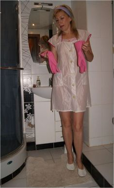 Staff Uniforms, Rubber Gloves, Overalls, Summer Dresses, Nylons, Womens Fashion, Leather, Home, Pinafore Apron
