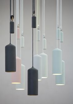 Porcelain Pulley Lamp by Studio WM [Dutch Design]