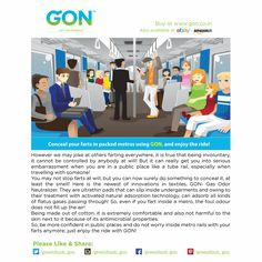 Please visit and buy at www.gon.co.in Also available at www.ebay.in and www.amazon.in #lifestyle #hygiene #health #personal #fart #gon #