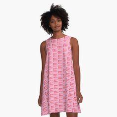 Red A Line Dress, I Dress, Tlingit, Red S, Modern Minimalist, Designer Dresses, Summer Dresses, Fashion Design, Pride